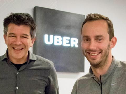 Travis Kalanick y Anthony Levandowski.