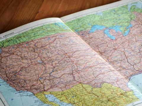 Un mapa de EEUU