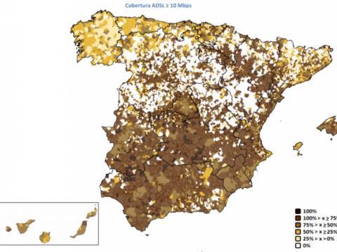 mapa pueblos sin internet en España