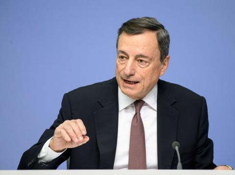 Mario Draghi, gobernador del BCE.