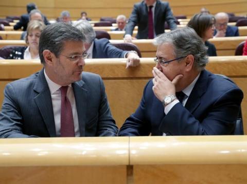 Los ministros de Justicia e Interior, Rafael Catalá y Juan Ignacio Zoido