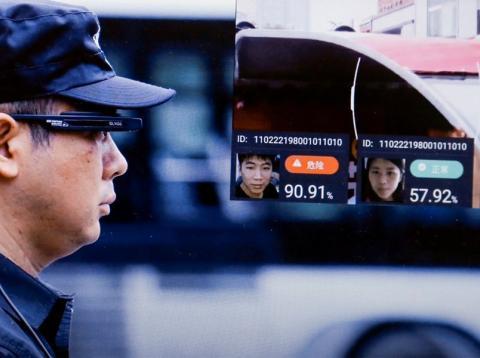 China reconocimiento facial gafas