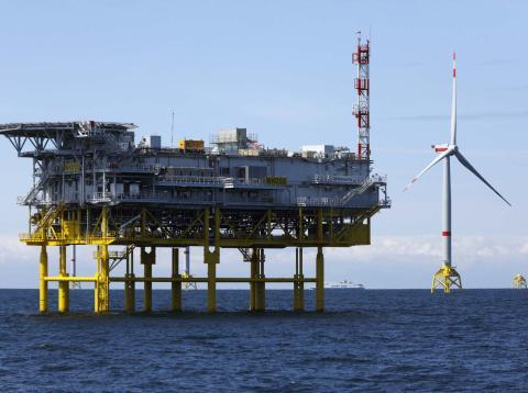 Parque eólico marino desarrollado por Iberdrola.