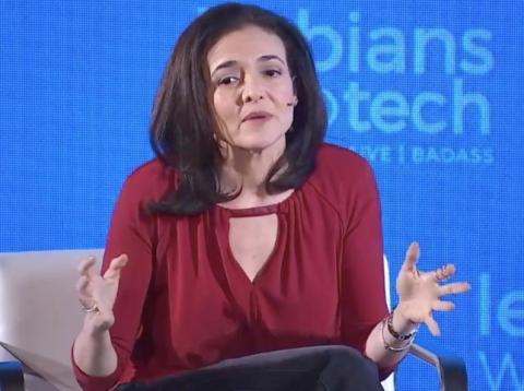 Sheryl Sandberg, directora de operaciones de Facebook