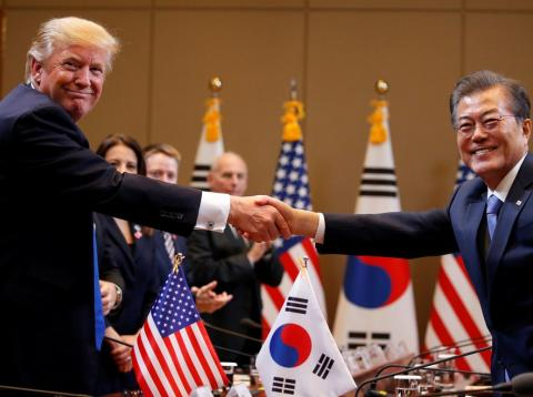 Donald Trump y Moon Jae-in, en 2017