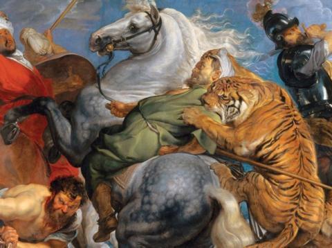 'La caza del tigre, el leopardo y el león' por Peter Paul Rubens.