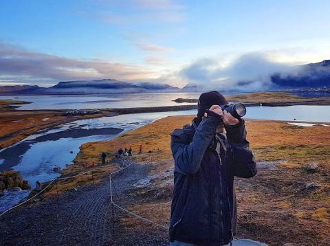 Fotógrafo en Islandia