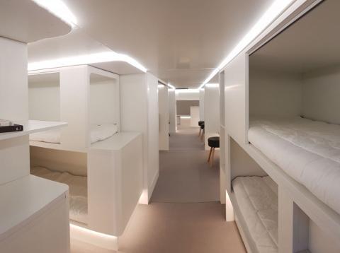 Reconstrucción del módulo dormitorio de Airbus