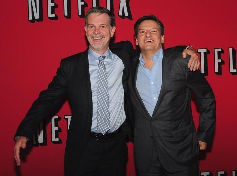 Reed Hastings y Ted Sarandos, CEO y director de contenidos de Netflix