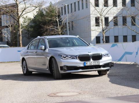 Serie 7 de BMW en pruebas de conducción autónoma