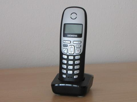 Un teléfono inalámbrico Siemens