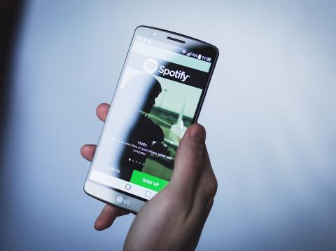 Un usuario de Spotify a través de Android