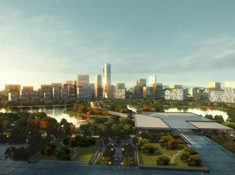 Imagen del diseño de New Clark, una ciudad de nueva planta que se planea construir en Filipinas.