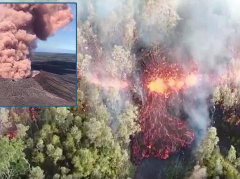 La erupción del Kilauea