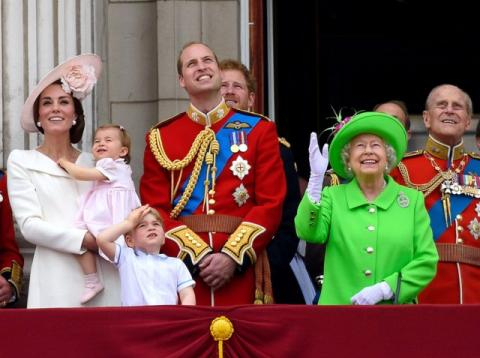 La familia real británica