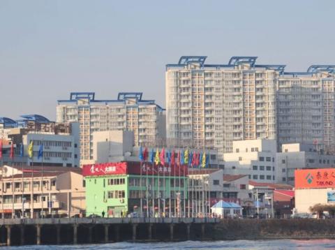 La fronteriza localidad de Dandong, entre China y Corea del Norte