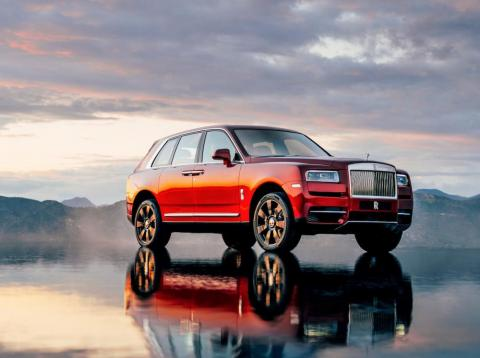 The new Rolls-Royce Cullinan SUV.
