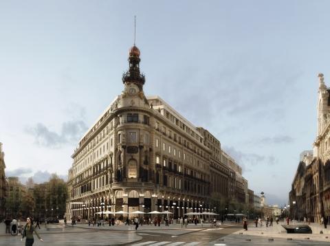 Recreación del futuro centro Canalejas, en Madrid.