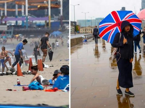 Venice Beach, Los Angeles, vs. London, England.