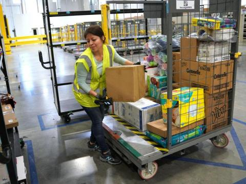Many of Amazon's fulfillment-center employees are getting a raise.