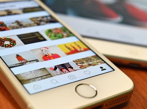 La aplicación móvil de la red social Instagram.