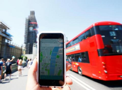 La app de Uber en Londres [RE]