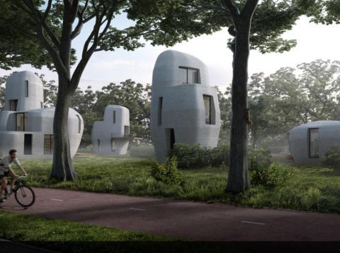 Edificios impresos 3d versión buena