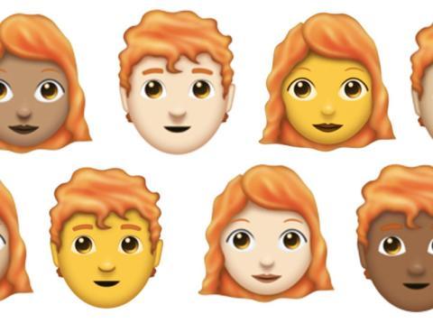 Emojis pelirrojos