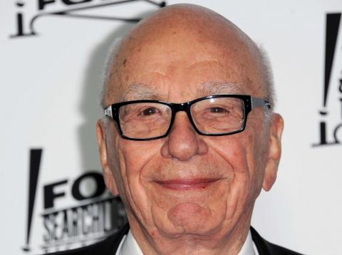 RE El empresario y principal accionista de Fox Rupert Murdoch