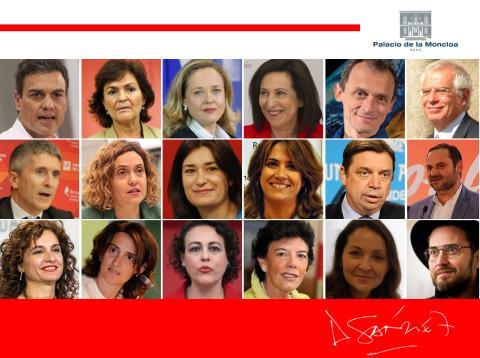 Equipo de ministros de Pedro Sánchez