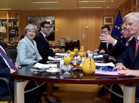 Mesa de negociación entre Reino Unido y la Unión Europea [RE]