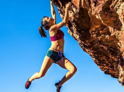 8. Rock or mountain climbing: 584 calories/hour | 728 calories/hour