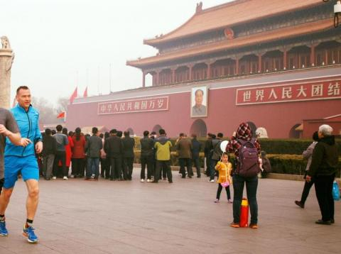 Mark Zuckerberg jogged through Tiananmen Square during a trip to Beijing in March 2016.