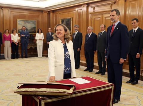 Ministra de Economía, Nadia Calvino