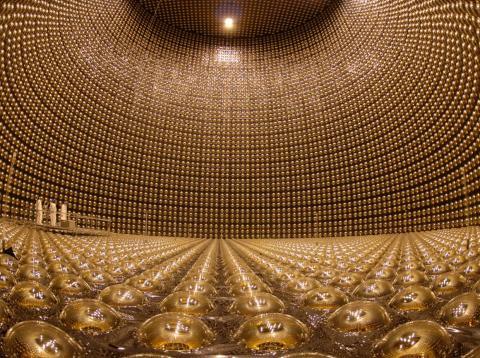 El observatorio de neutrinos Super-Kamiokande.