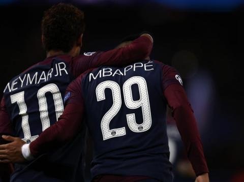 Neymar and Kylian Mbappé.