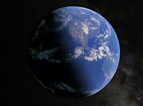 Una ilustración de la Tierra durante el solsticio de verano.