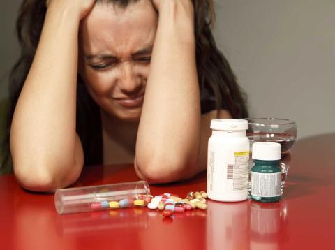 Tomando pastillas