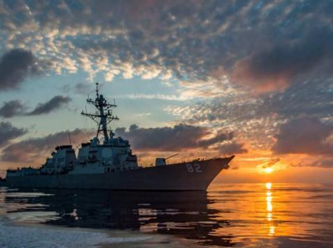 USS Lassen (DDG 82) patrols the eastern Pacific Ocean.