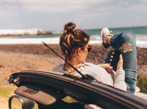 Viaje en coche movil