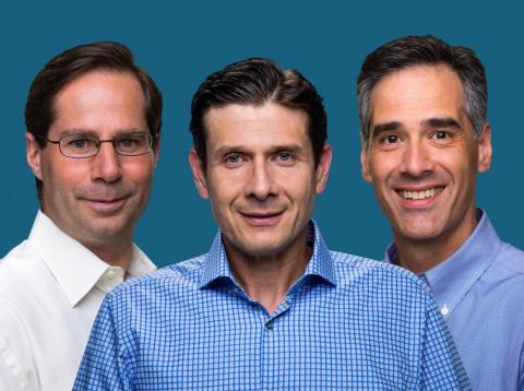 El CEO de Samumed, Osman Kibar; el CFO, Cevdet Samikoglu; y el jefe de Medicina, Yusuf Yazici [RE]