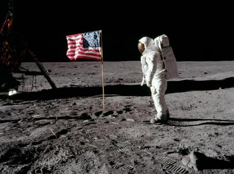 Apollo 11 put people on the lunar surface for the first time on July 20, 1969.