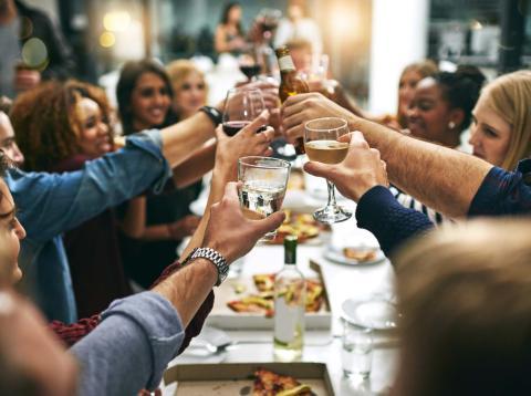 Celebrando una comida
