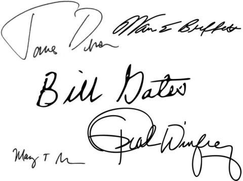 Qué dice la firma de Bill Gates, Zuckerberg y otros 13 grandes personajes sobre su personalidad, según los expertos