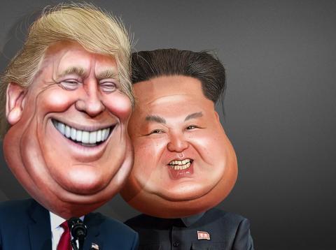 Kim Jong Un y Donald Trump