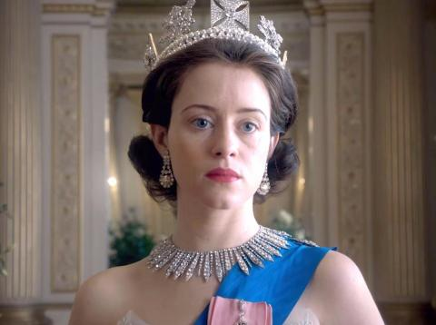 "Netflix show ""The Crown."""