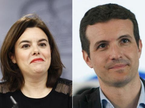 Soraya Sáenz de Santamaría y Pablo Casado