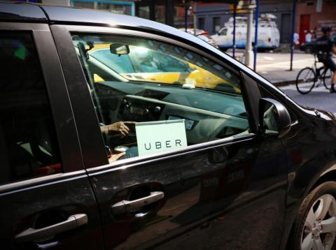 Uber car service on the streets of New York