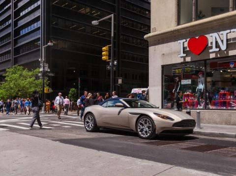 We love New York — and we love the Aston Martin DB11 Volante.