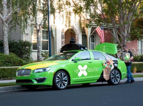 AutoX utilizará un Lincoln MKZ en sus pruebas de reparto de la compra a domicilio.